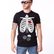 Skeleton and Donuts Shirt, Man, Black