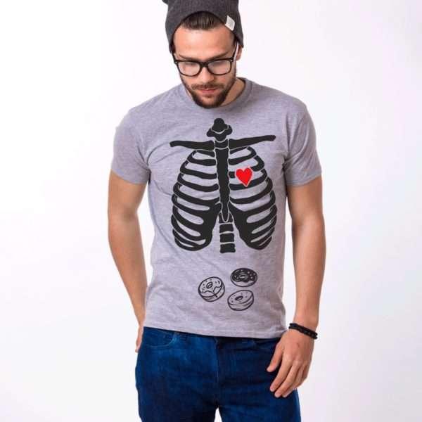 Skeleton Halloween Shirt, Donuts Shirt, Skeleton Shirt, UNISEX