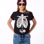 Maternity Skeleton Shirt, Baby Girl, Black