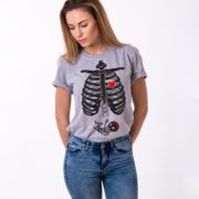 Maternity Skeleton Shirt, Baby Girl, Gray