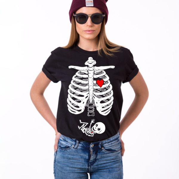 Maternity Skeleton Shirt, Black