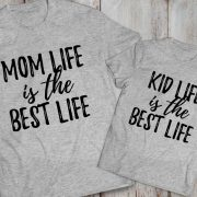 Mommy and me outfits, Mom life is the best life, Kid life is the best life, Momlife shirt, Mom life,  Set of 2, UNISEX 3