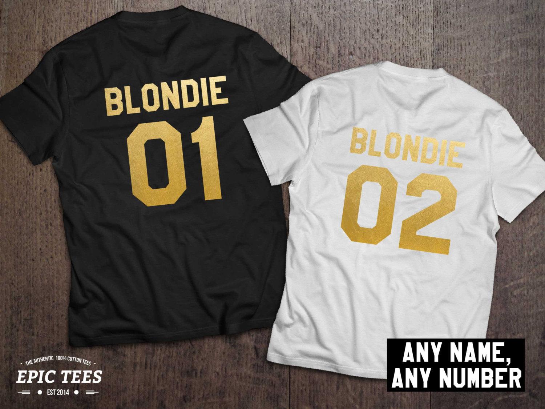 a6635b4a Blondie 01 Blondie 02, Blondie shirts, Bff shirts, Set of two matching  shirts