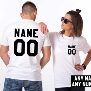 Custom shirts, Personalized name shirt, Custom numbers shirt, Matching shirts, Any name, Any number, Both sides print,  UNISEX