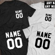Custom shirts, Personalized name shirt, Custom numbers shirt, Matching shirts, Any name, Any number, Both sides print,  UNISEX 3
