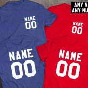 Custom shirts, Personalized name shirt, Custom numbers shirt, Matching shirts, Any name, Any number, Both sides print,  UNISEX 4