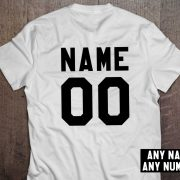 Custom shirt, Personalized name shirt, Custom numbers shirt, Any name, Any number, UNISEX 3
