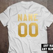 Custom shirt, Personalized name shirt, Custom numbers shirt, Any name, Any number, UNISEX 4