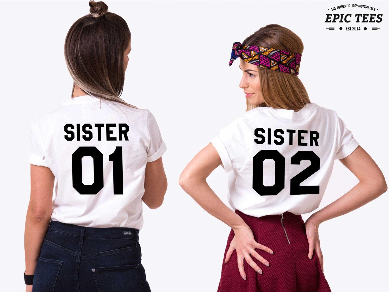 Sister 01 Shirts, Matching Best Friends Shirts, Unisex
