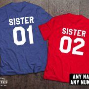 Sister shirts, Sister 01, Sister 02, Siblings shirts, UNISEX 4