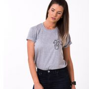 Cactus Shirt, Gray/Black