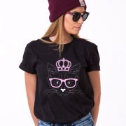 Cat Princess Shirt, Black/White/Pink