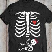 Halloween maternity shirt, maternity shirt, skeleton baby shirt, halloween shirt, Baby girl, UNISEX