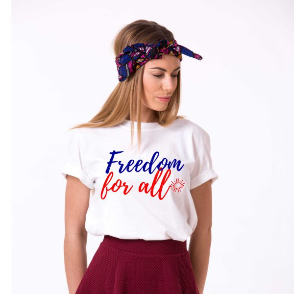Freedom for All, White/Blue/Red