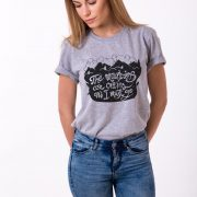 The Mountains Are Calling and I Must Go, Nature Shirts, Gray/Black