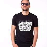 The Mountains Are Calling and I Must Go, Nature Shirts, Black/White