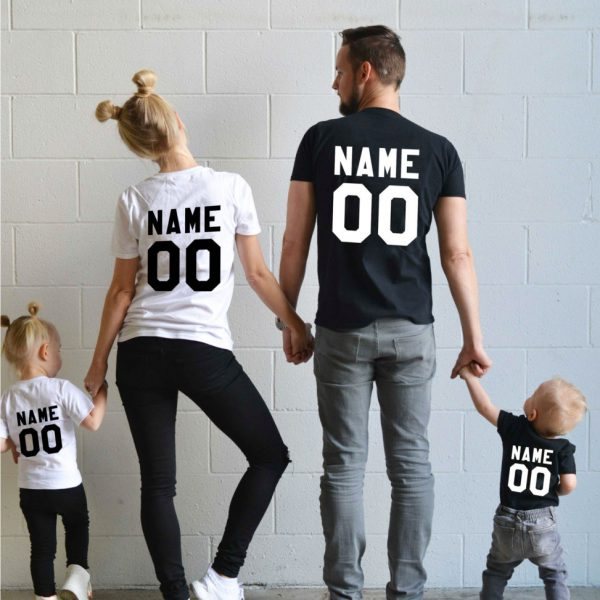 Family t-shirts, Any name, any number, Custom name, Custom number shirt,  UNISEX 1