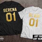 Serena Blair t-shirts, Bff shirts, Set of two matching shirts for best friends, UNISEX 2