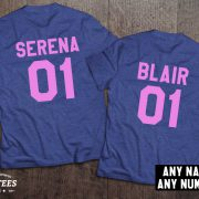 Serena Blair t-shirts, Bff shirts, Set of two matching shirts for best friends, UNISEX 5