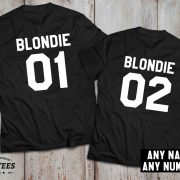 Blondie 01 Blondie 02, Blondie shirts, Bff shirts, Set of two matching shirts for best friends, UNISEX 2