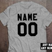 Custom shirt, Personalized name shirt, Custom numbers shirt, Any name, Any number, UNISEX 2