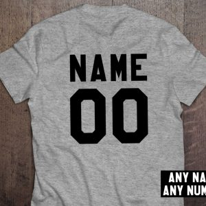 Custom shirt, Personalized name shirt, Custom numbers shirt, Any name, Any number, UNISEX