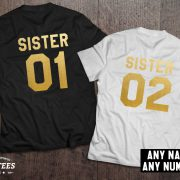 Sister shirts, Sister 01, Sister 02, Siblings shirts, UNISEX 3