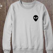 Alien Sweatshirt, White/Black