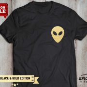 Alien Shirt, Black/Gold