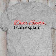 Dear Santa I can explain shirt, Santa shirt, Christmas shirt, Christmas t-shirt, UNISEX 2