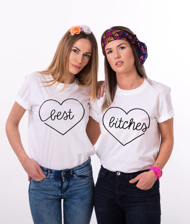best bitches matching best friends shirts unisex. Black Bedroom Furniture Sets. Home Design Ideas