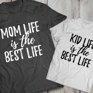 Mommy and me outfits, Mom life is the best life, Kid life is the best life, Momlife shirt, Mom life,  Set of 2, UNISEX