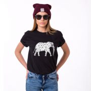 Elephant Shirt, Black/White