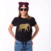 Elephant Shirt, Black/Gold