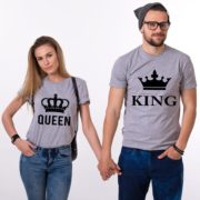 King Queen, Big Crowns, Shirts, Gray/Black