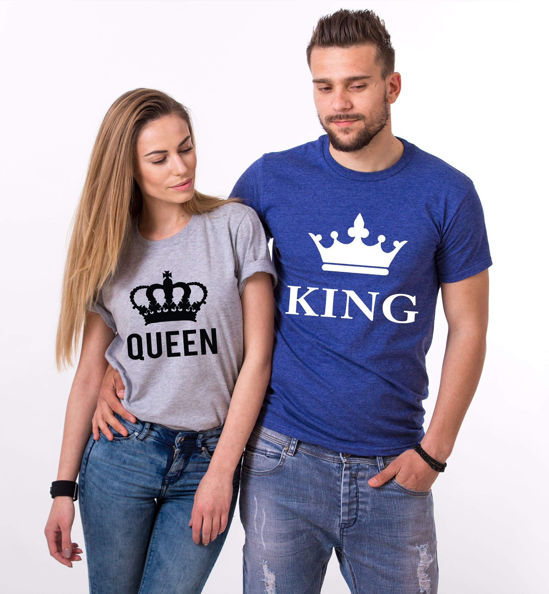 13f5e8d8a4 King Queen Couples Shirts, Matching Shirts, Couples T-Shirt