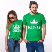 King Queen, Big Crowns, Shirts, Green/White