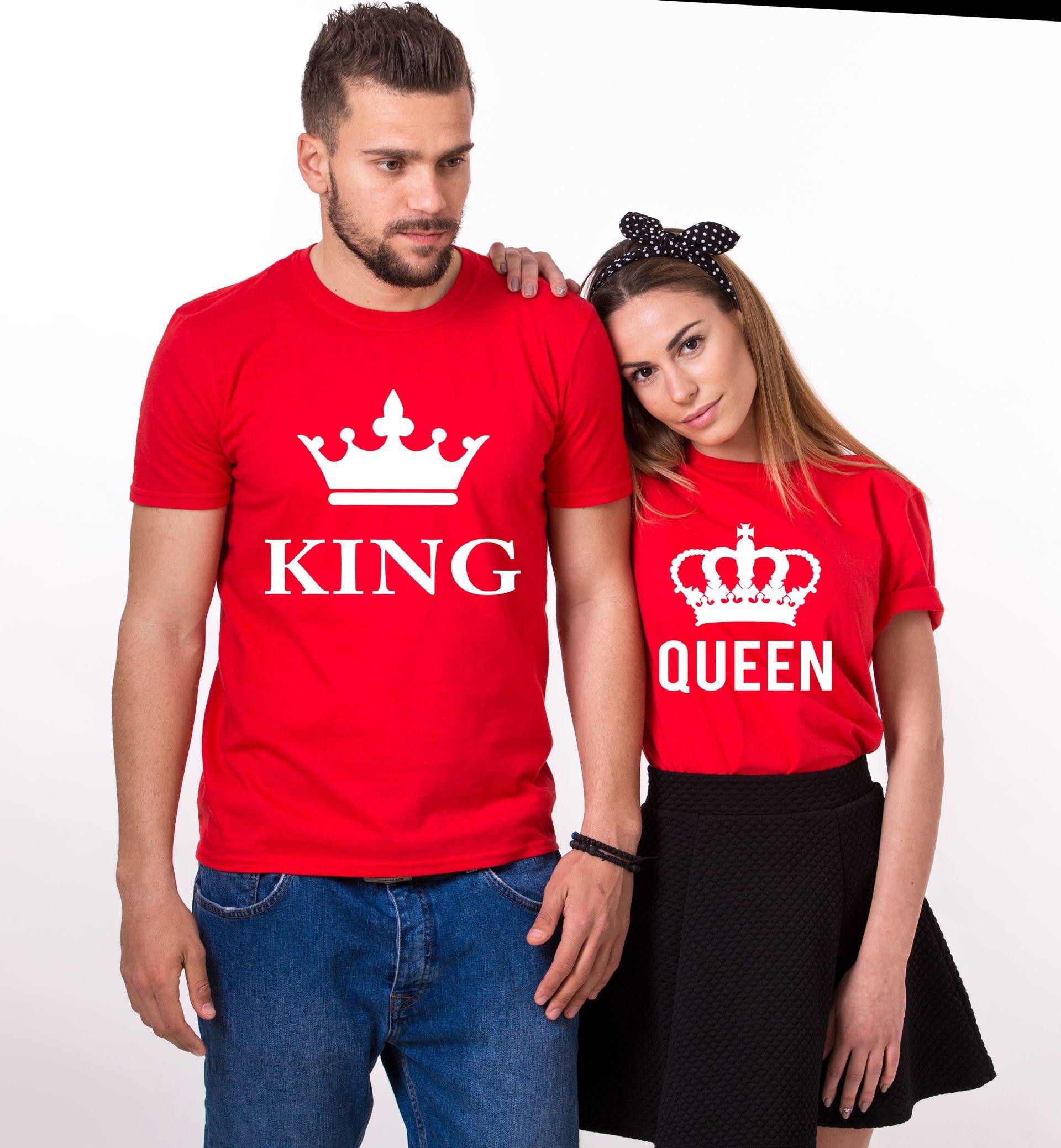 2e763441 King Queen Couples Shirts, Matching Shirts, Couples T-Shirt