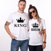 King Queen, Big Crowns, Shirts, White/Black
