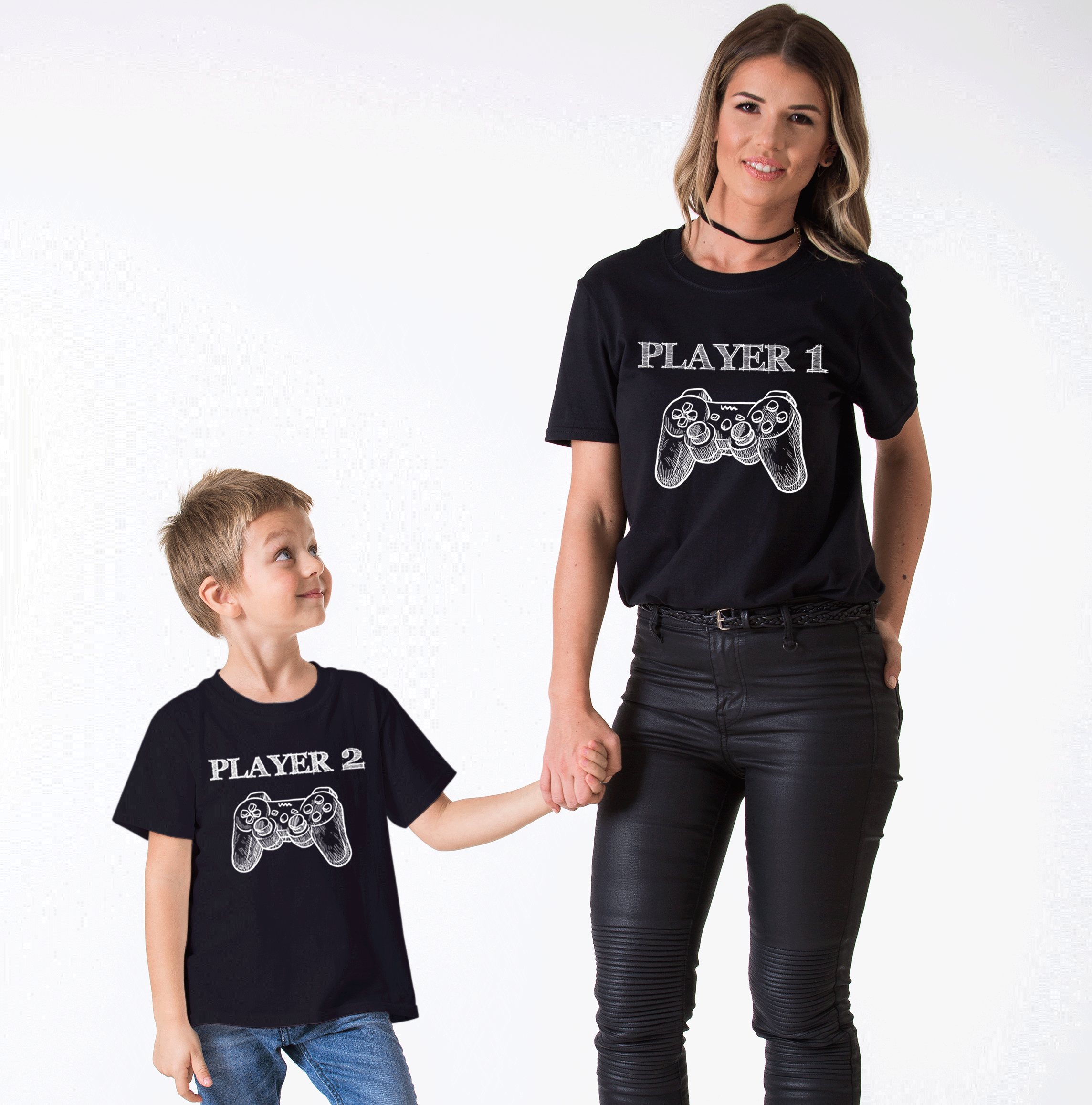 053c01889 Father Son Matching Set, Player 1, Player 2, Daddy and Me