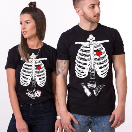Maternity Couple Shirts, Halloween Skeleton Shirts, Baby Girl