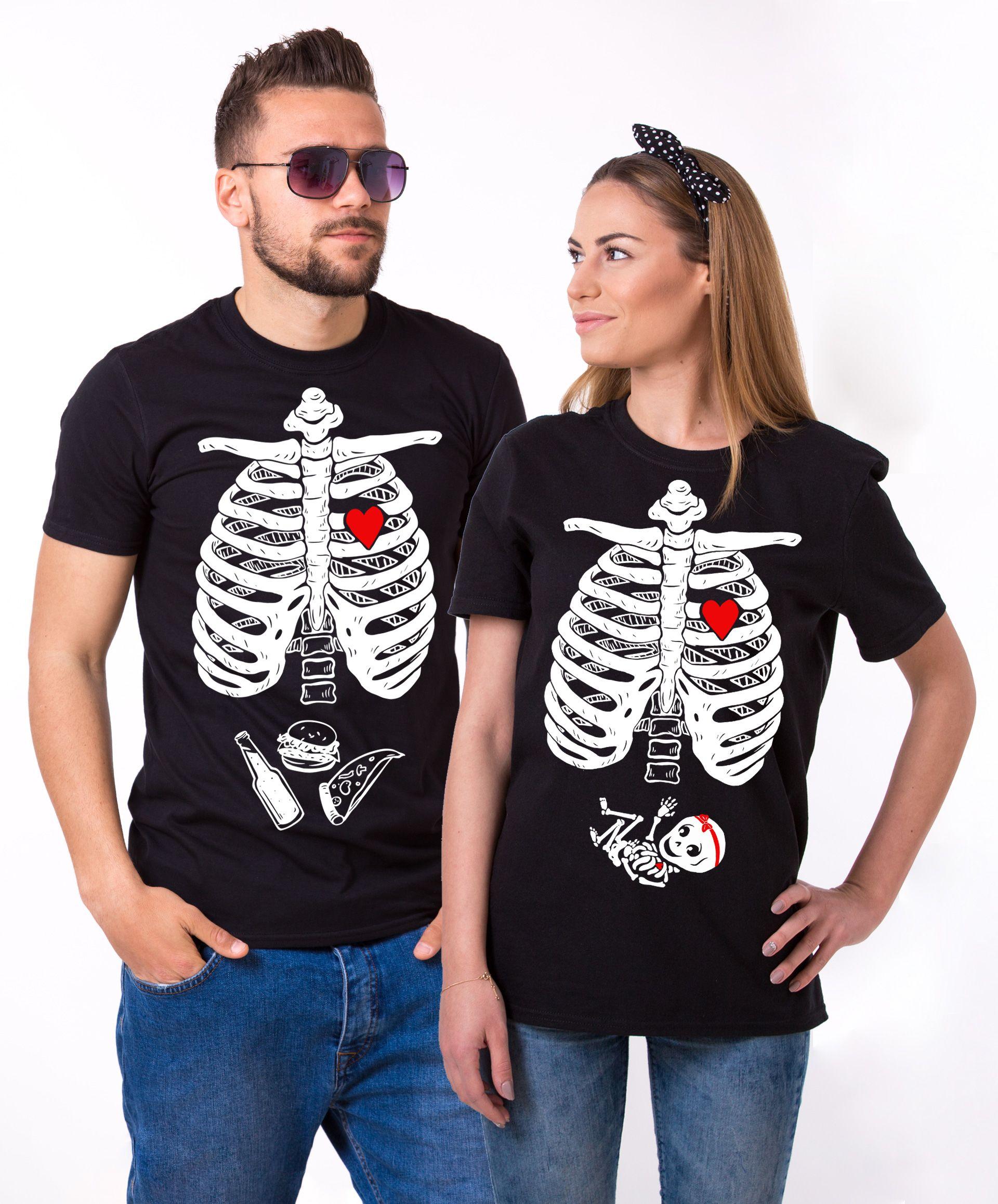 450fea7e Maternity Couple Shirts, Halloween Skeleton Shirts, Baby Girl