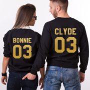 Bonnie Clyde 03, Sweatshirts, Black/Gold