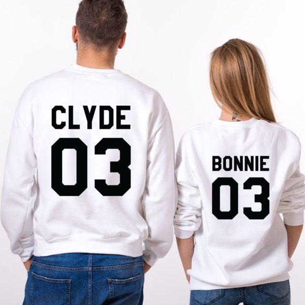 Bonnie Clyde 03, Sweatshirts, White/Black