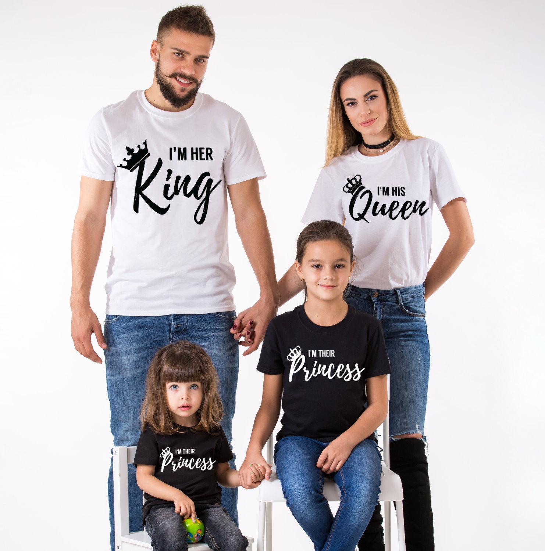 King Queen Prince Princess Family Matching Shirts
