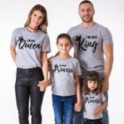 I am Her King, I am His Queen, I am Their Prince, I am Their Princess, Grey/Black