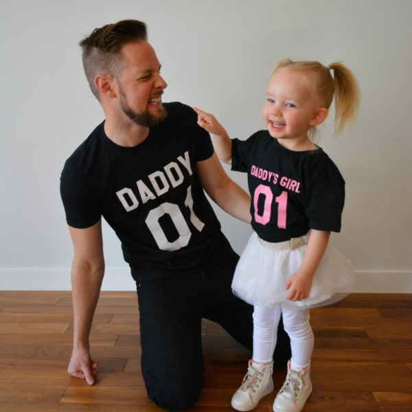 Daddy, Daddy's Girl, Black/White, Black/Pink