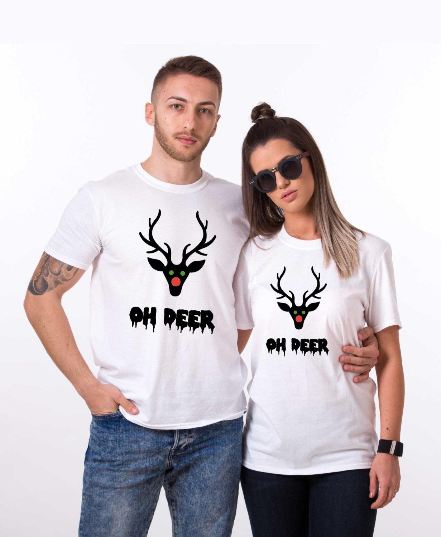 oh deer oh deer christmas shirt oh deer shirt santa shirt matching