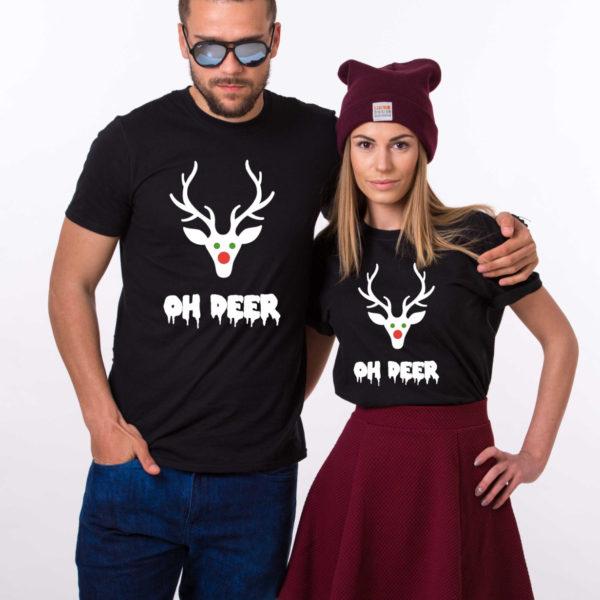 Oh deer, Oh deer Christmas shirt, Oh deer shirt, Santa shirt, Matching couple Christmas shirts, Christmas shirt, Christmas t-shirt, UNISEX 1