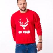 Oh deer, Deer sweatshirt, Oh deer sweatshirt, Christmas sweatshirt, Oh deer sweatshirt,  UNISEX 4